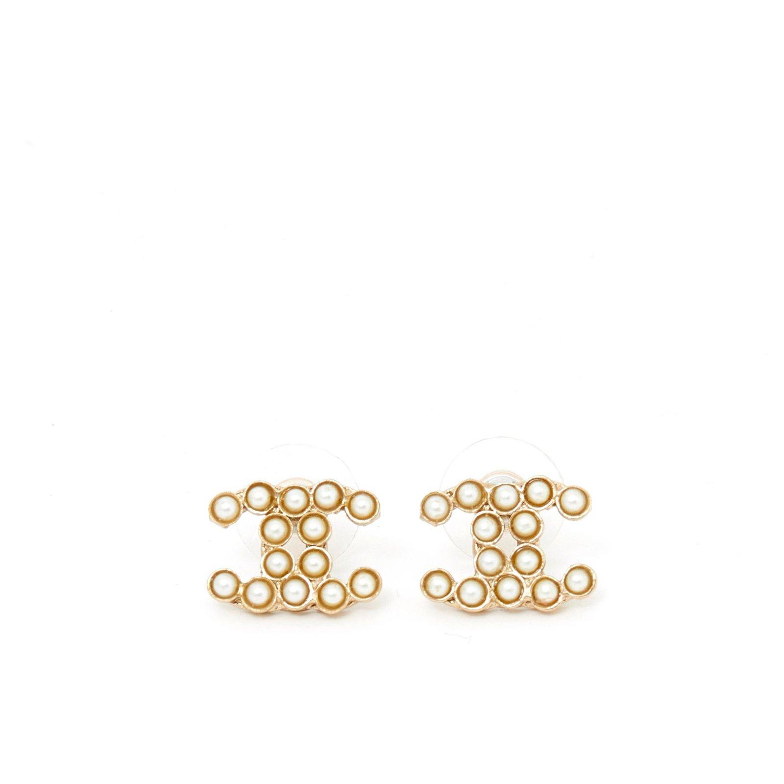 383ec840 Chanel Gold Pearl Earrings - The Best Produck Of Earring