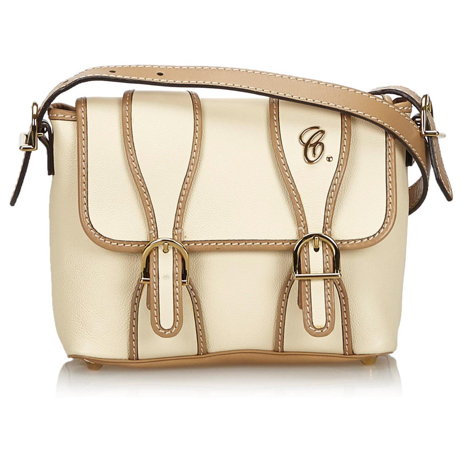 97a1798a7f Chloe White Leather Susan Crossbody Bag
