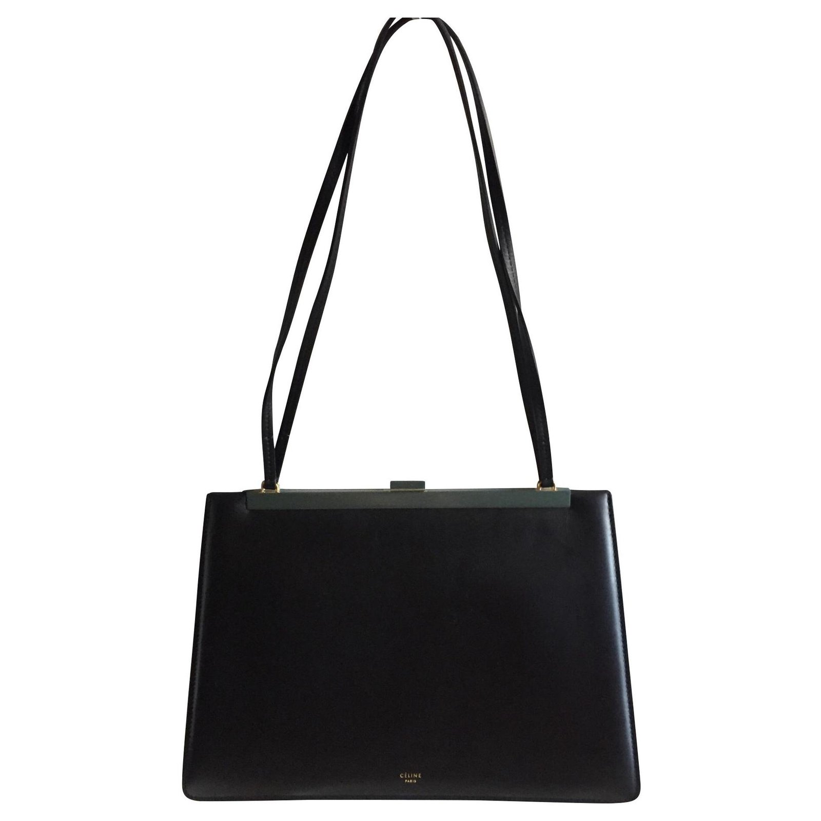 low price sale compare price Discover CÉLINE CLASP BAG BLACK NEW