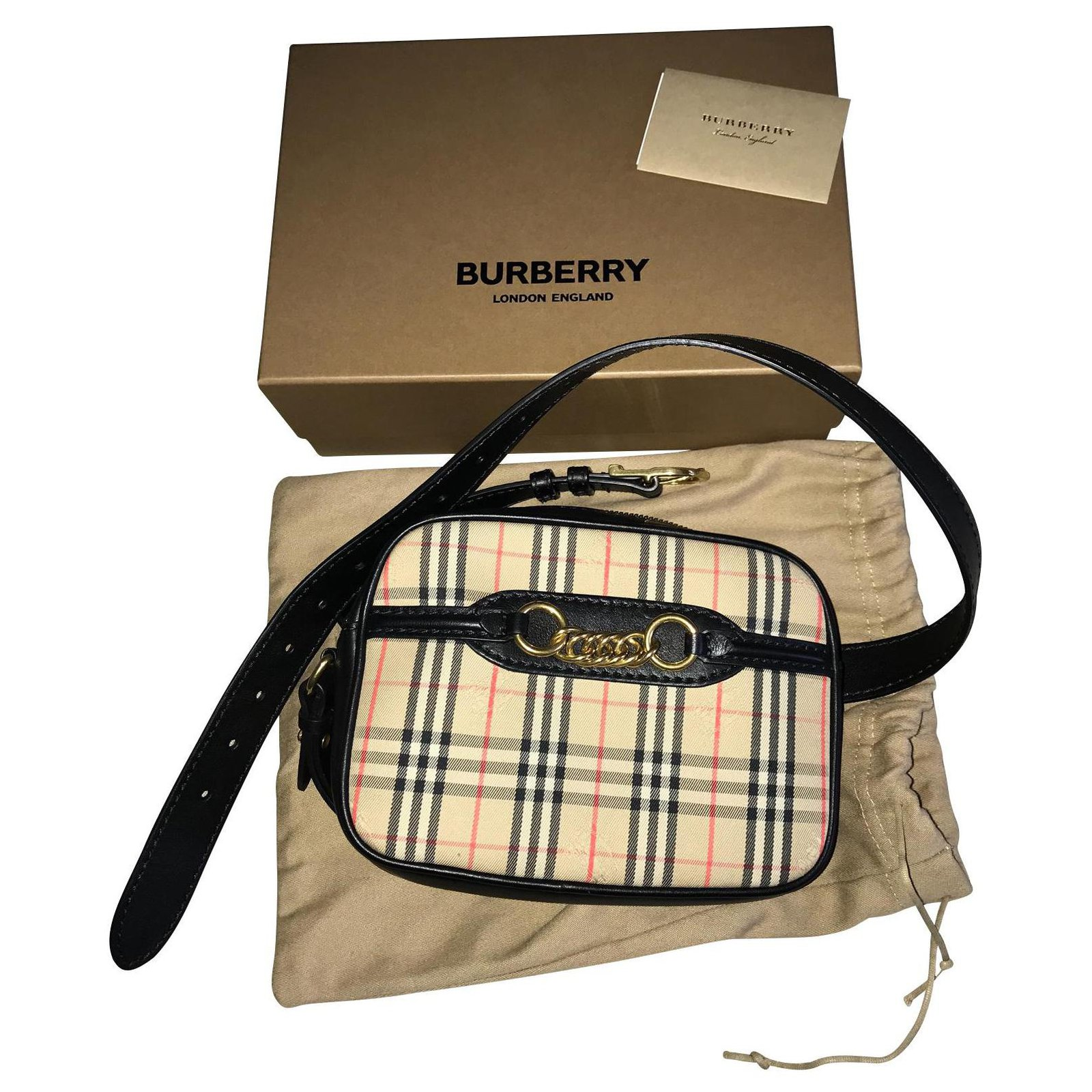 Burberry Handbags Leather