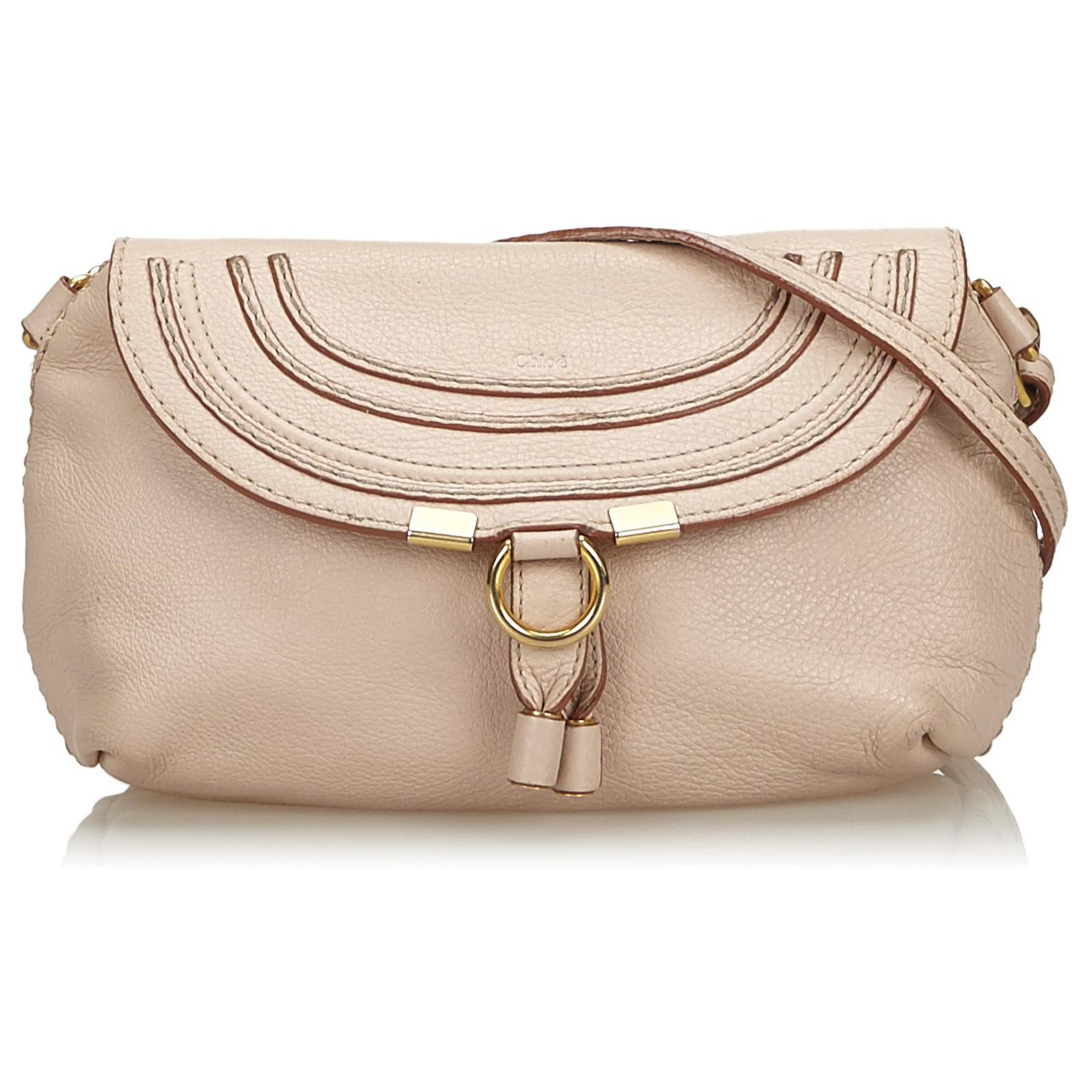39f349e7 Chloe Brown Small Leather Marcie Crossbody Bag