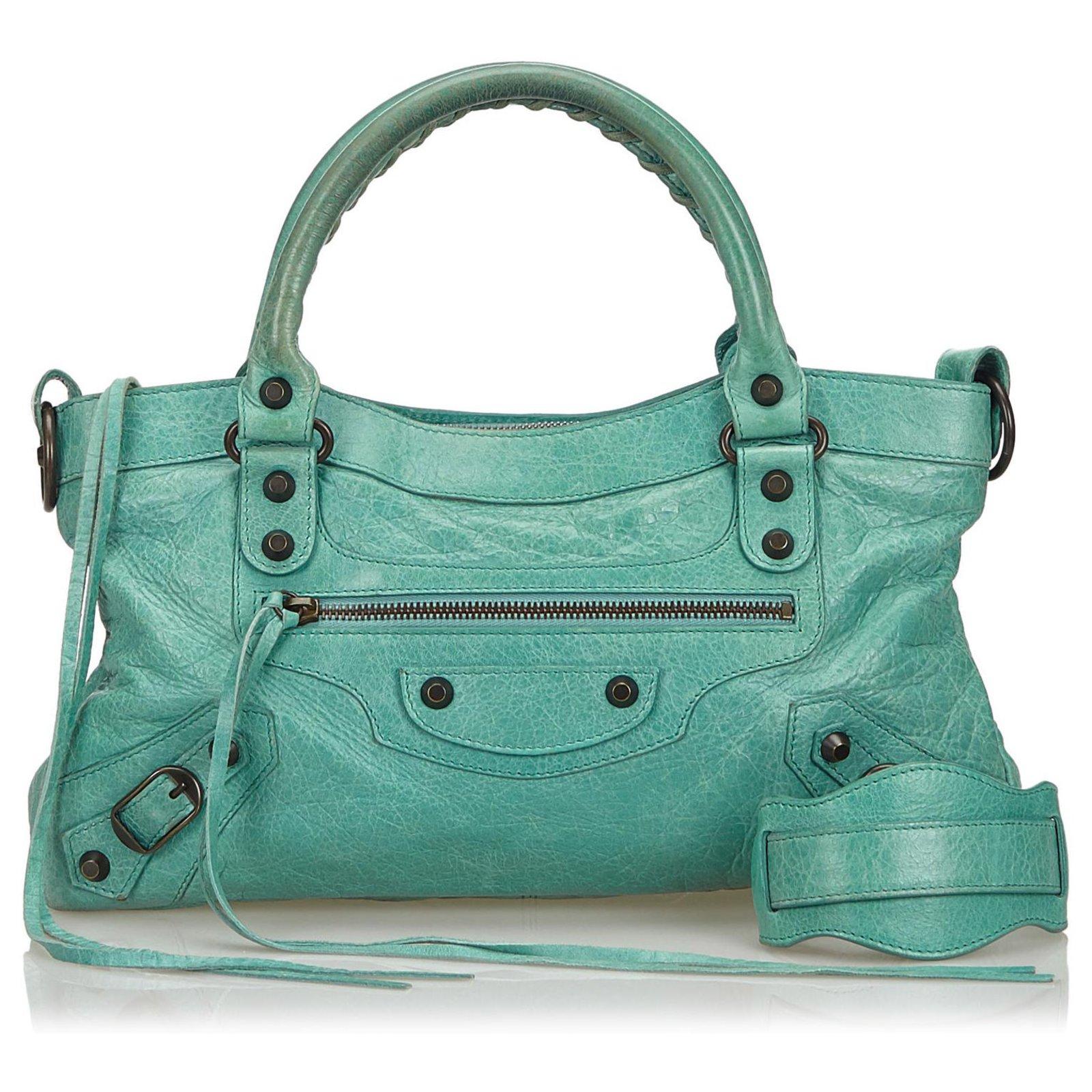 code promo 6e0da 866e0 Sac bandoulière Balenciaga en cuir bleu classique