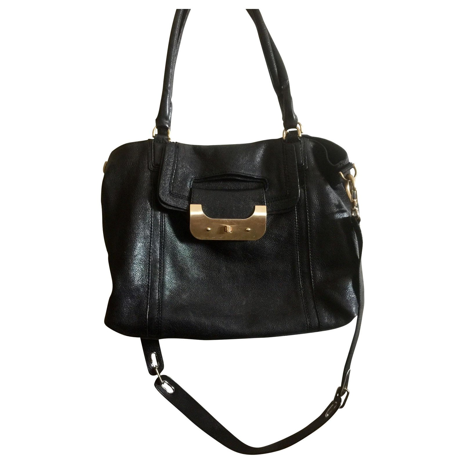 Dvf Large Leather Bag Handbags
