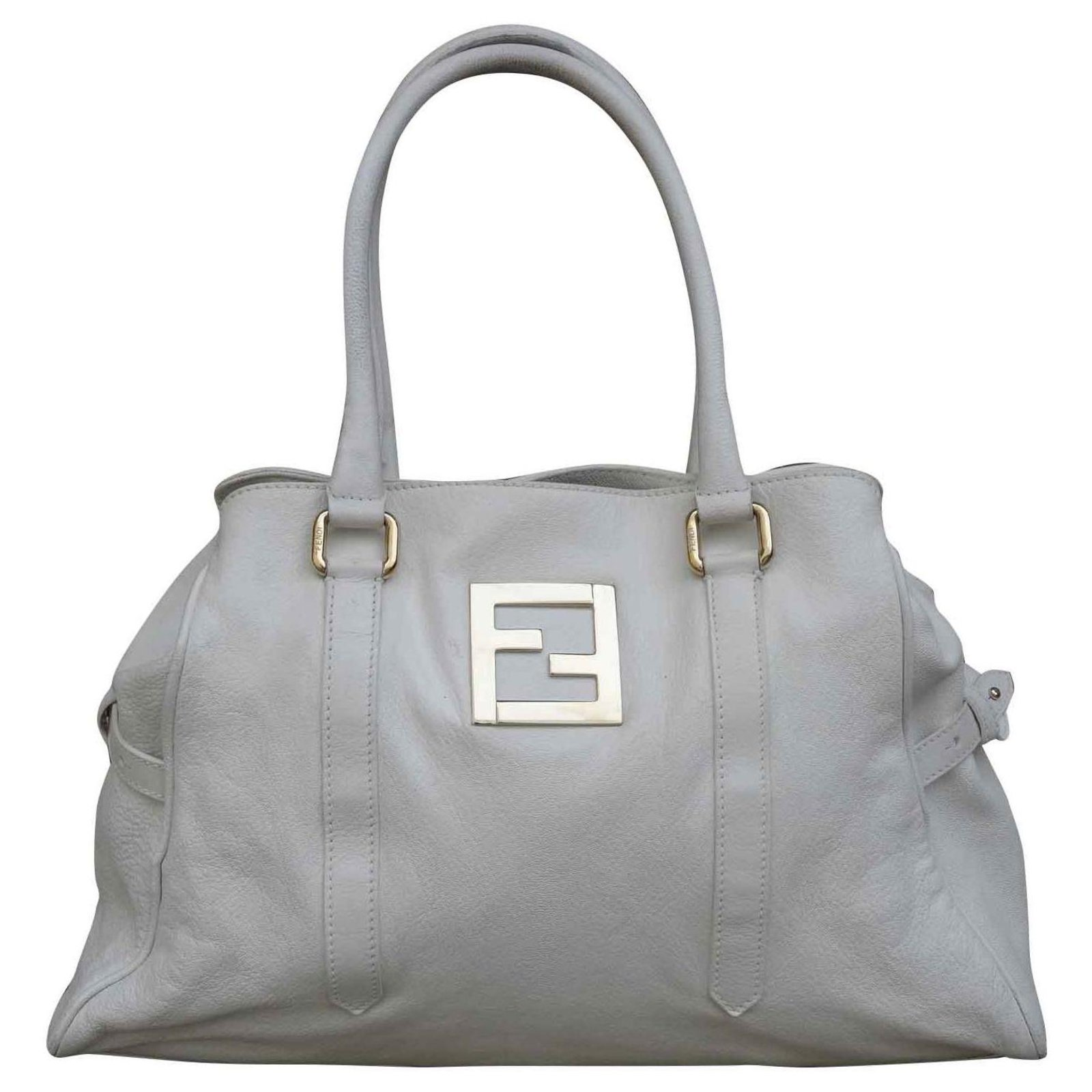 Fendi Bag Handbags Leather White Ref 141537 Joli Closet