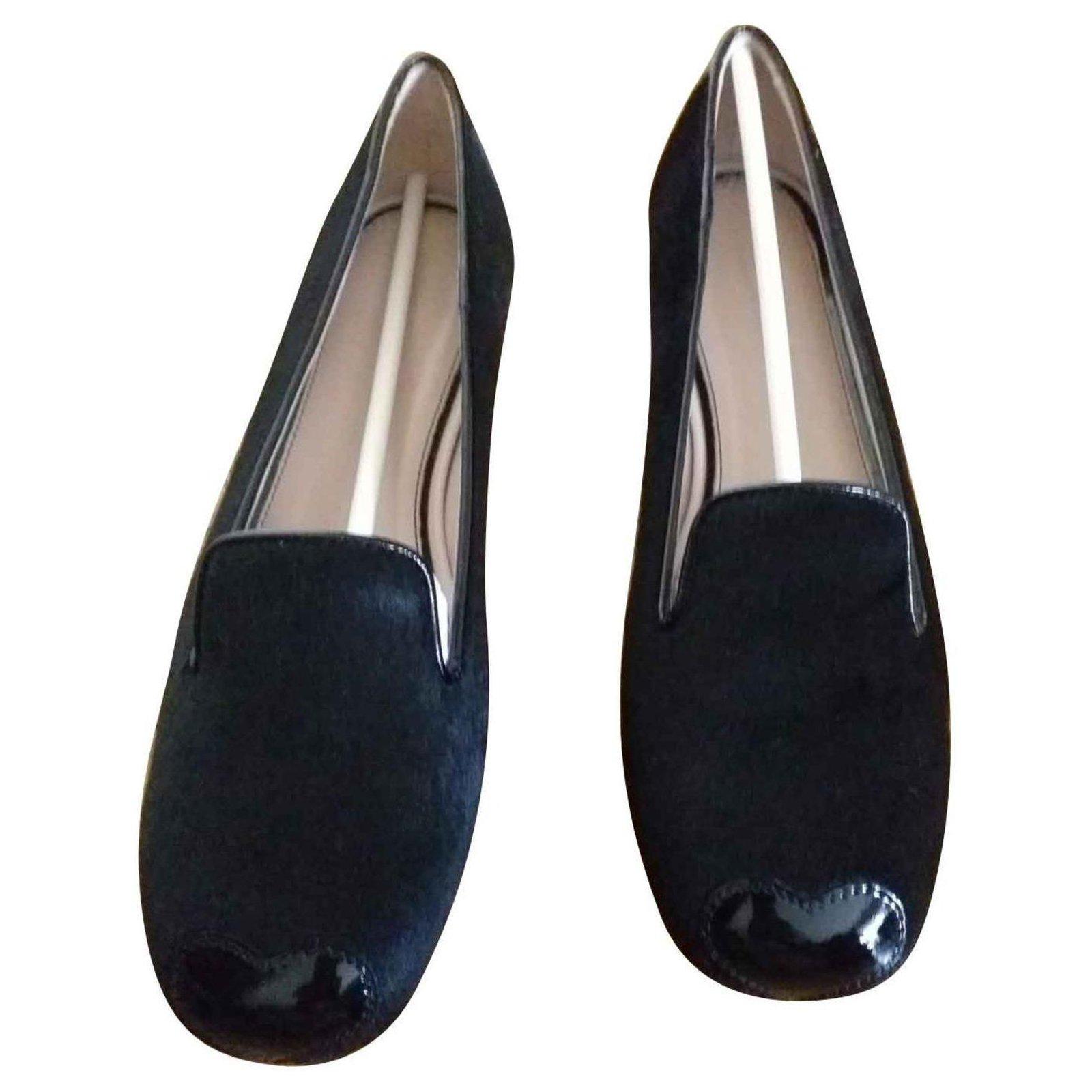 Hogan ballerina Ballet flats Leather Black ref.144707 - Joli Closet