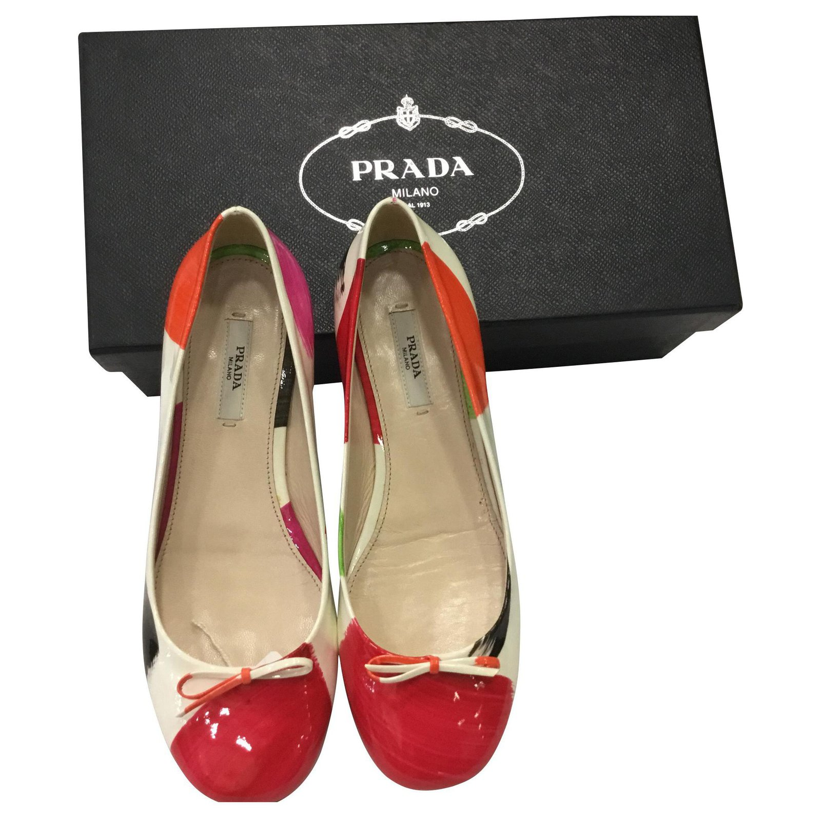 Prada Dancers Ballet Flats Patent Leather Other Ref 147479