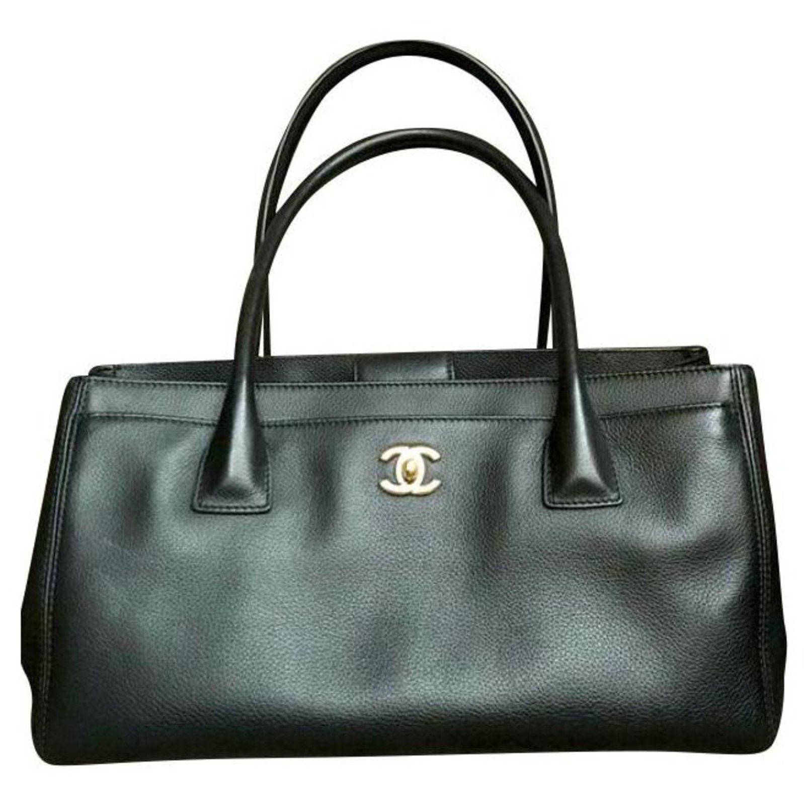 Chanel Handbags Leather Black