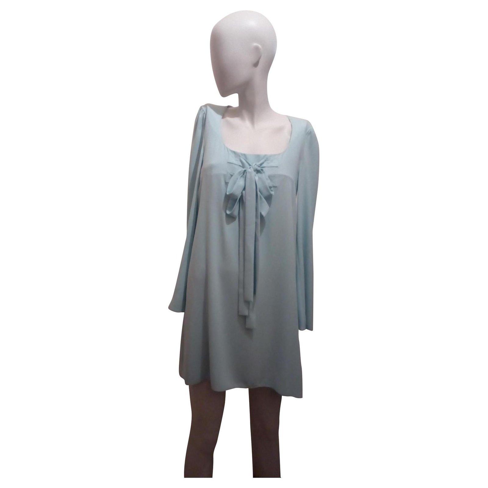 Robes Moschino Robe Bleu Ciel Polyester Triacetate Bleu Clair Ref 151213 Joli Closet