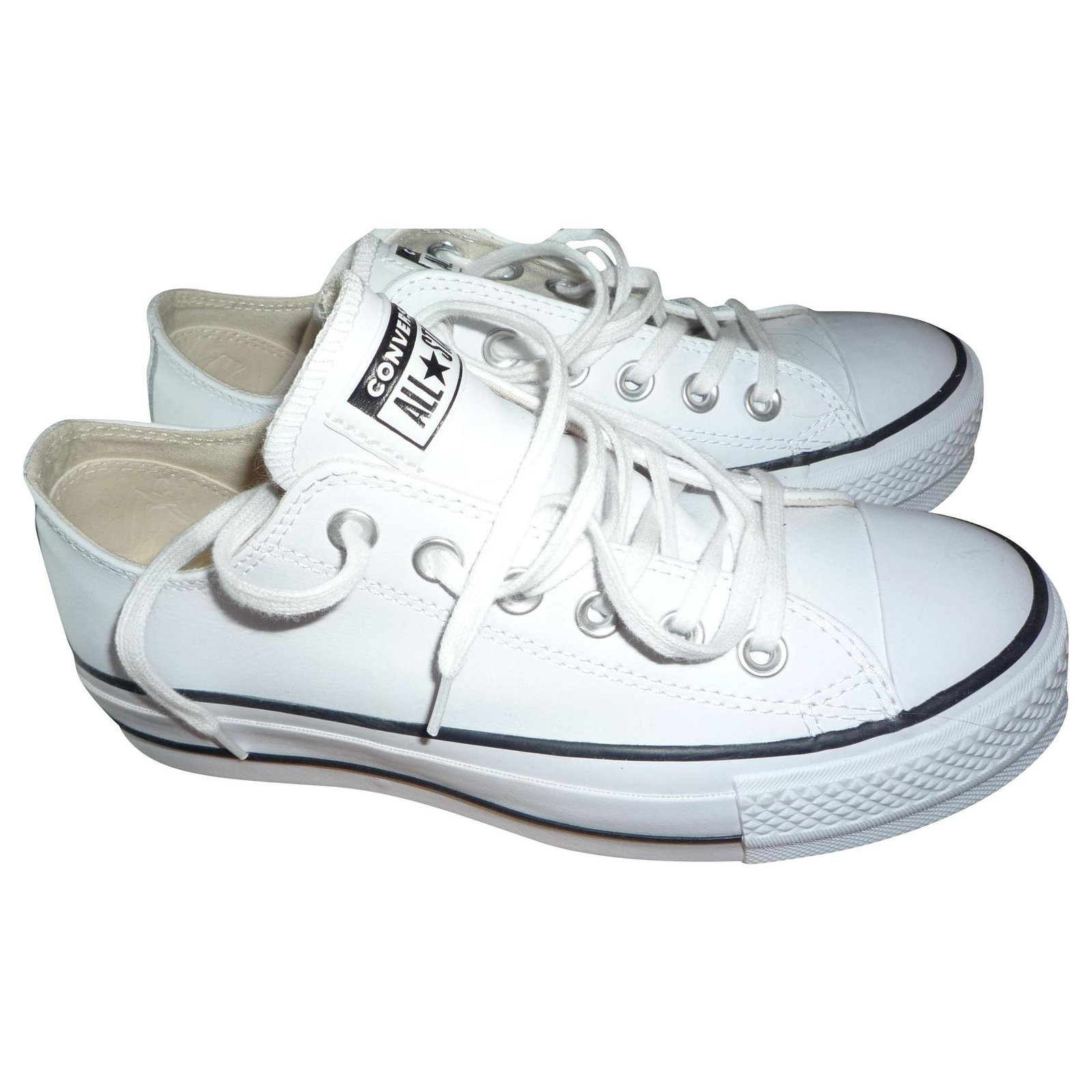 converse all star cuir blanc