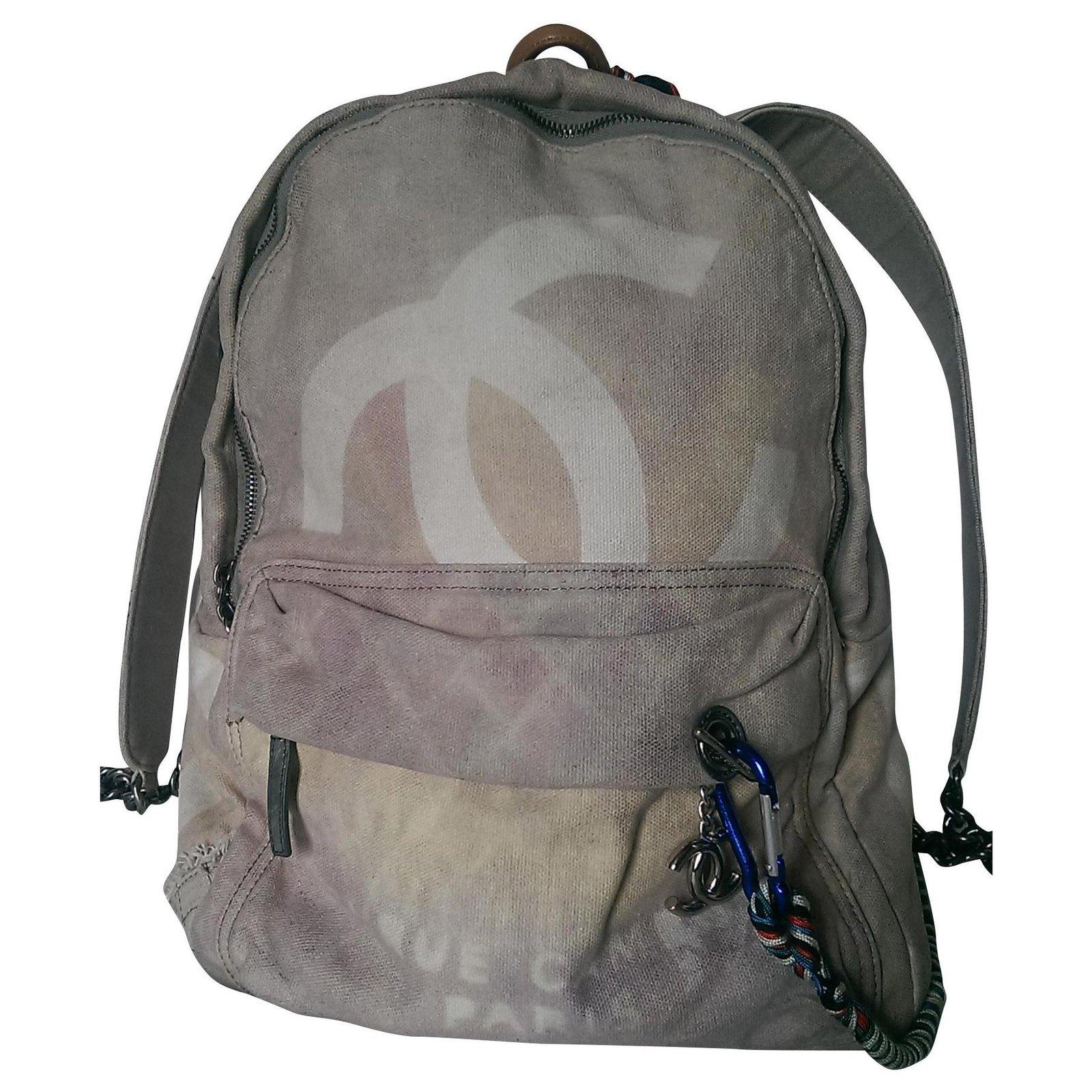 Chanel Ss Graffiti 14 Backpacks Cloth Beige Other Ref 155689 Joli Closet