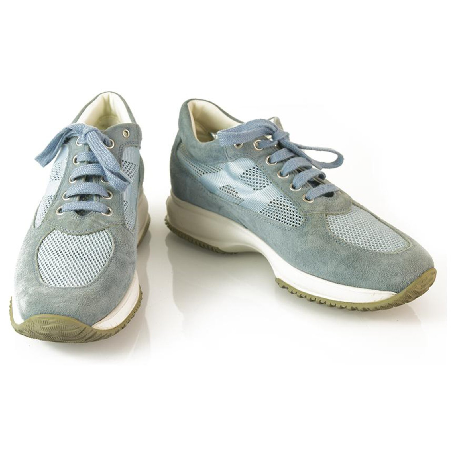 HOGAN Interactive By TOD'S Light Blue Suede Shoes Sneakers ...