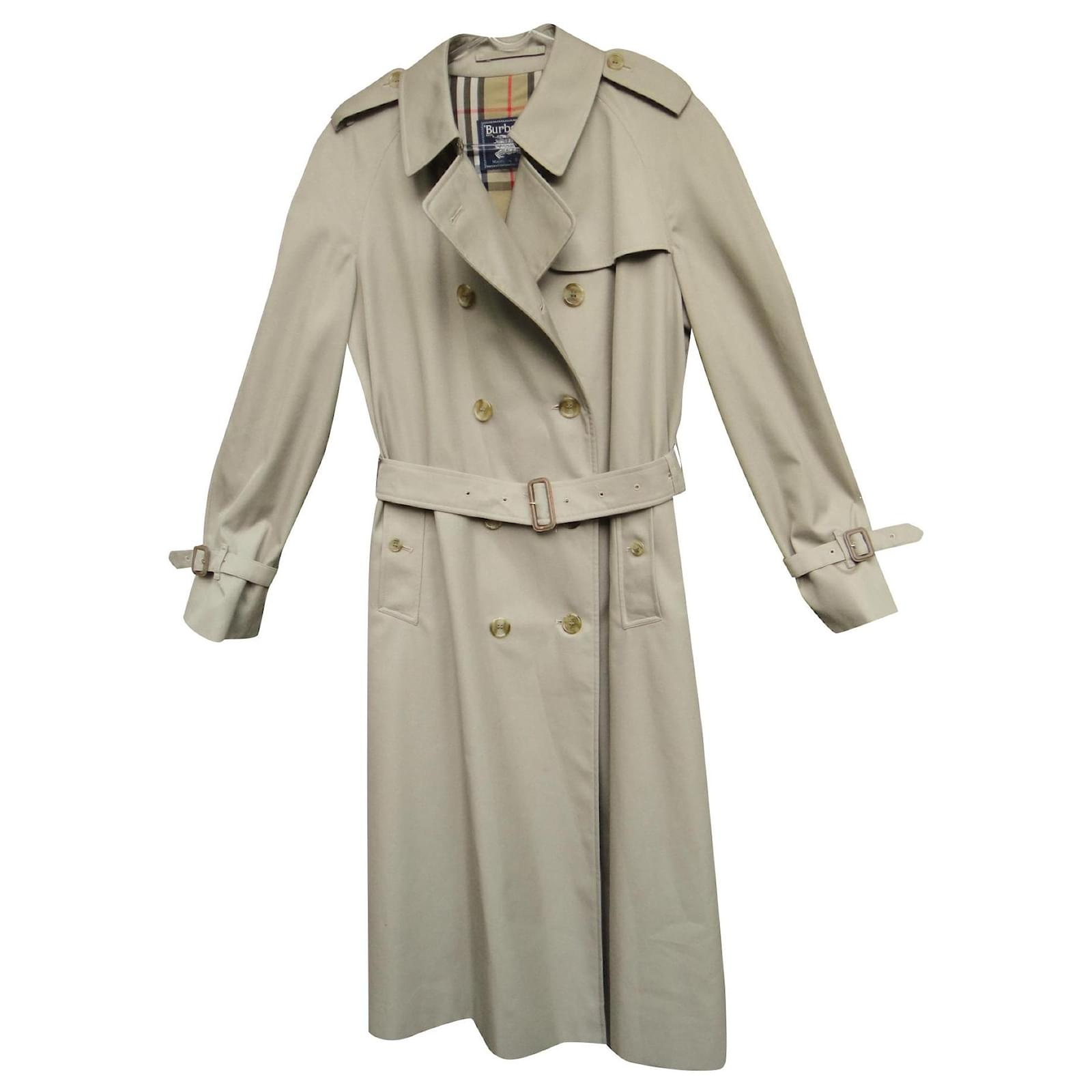 Burberry vintage Burberry women's trench coat 44 Perfect condition Trench  coats Cotton,Polyester Beige ref.159092 - Joli Closet