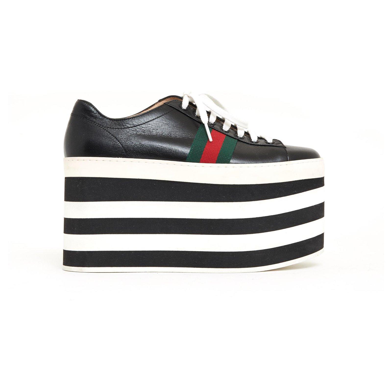 Gucci BLACK PEGGY ACE EU38.5 Sneakers