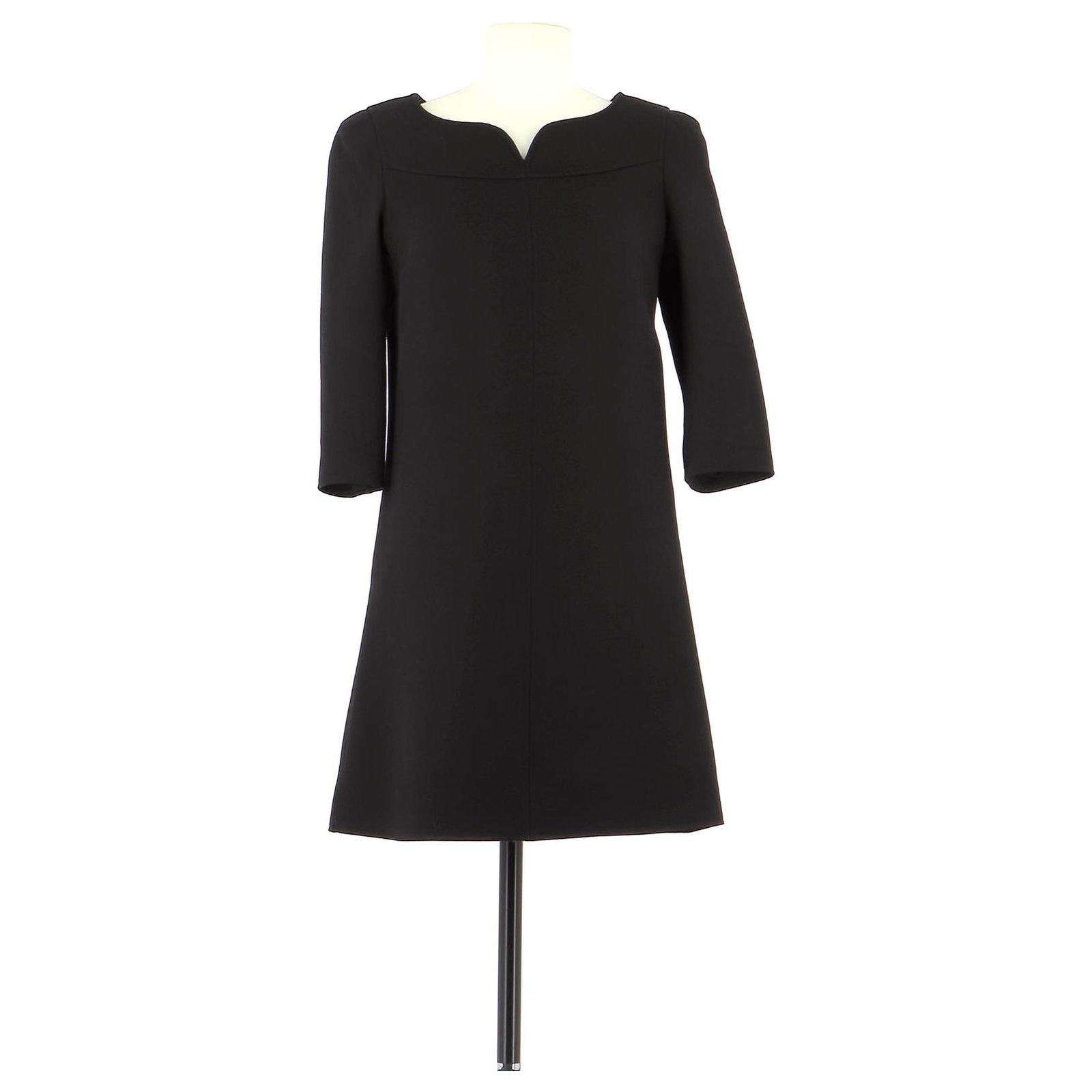 Courreges Robe Dresses Wool Black Ref 162312 Joli Closet