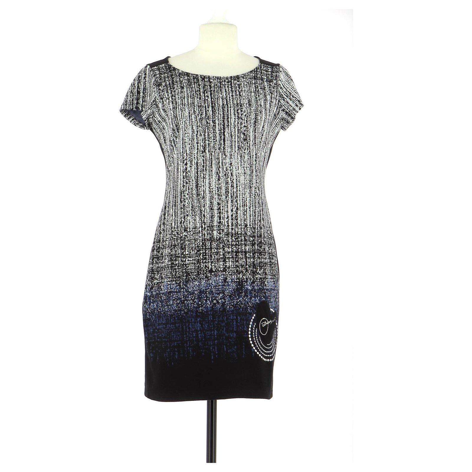 Robes Desigual Robe Polyester Noir Ref 163242 Joli Closet