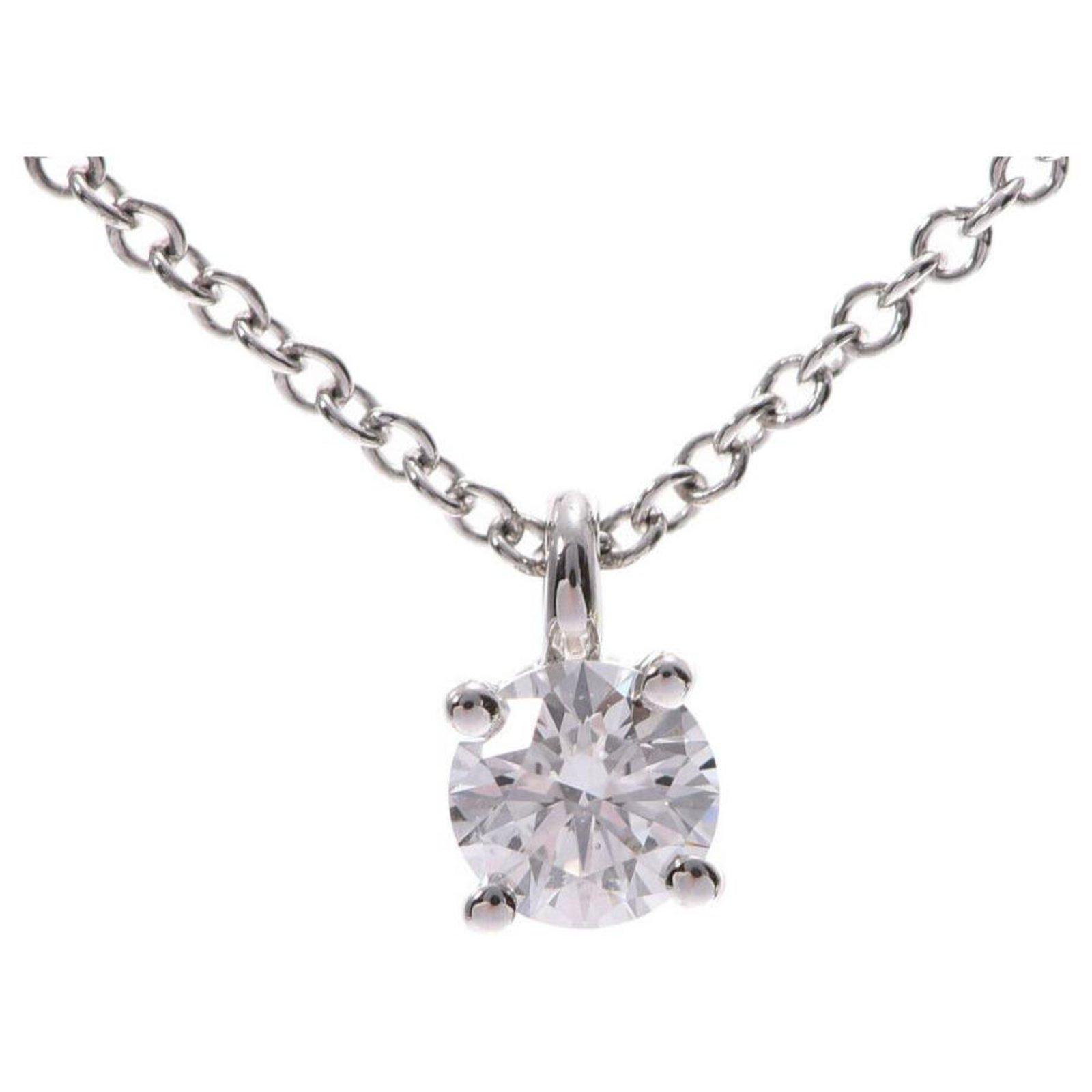 Tiffany Co Tiffany Co Solitaire Necklace Diamond Necklaces Gold Plated Golden Ref 163802 Joli Closet