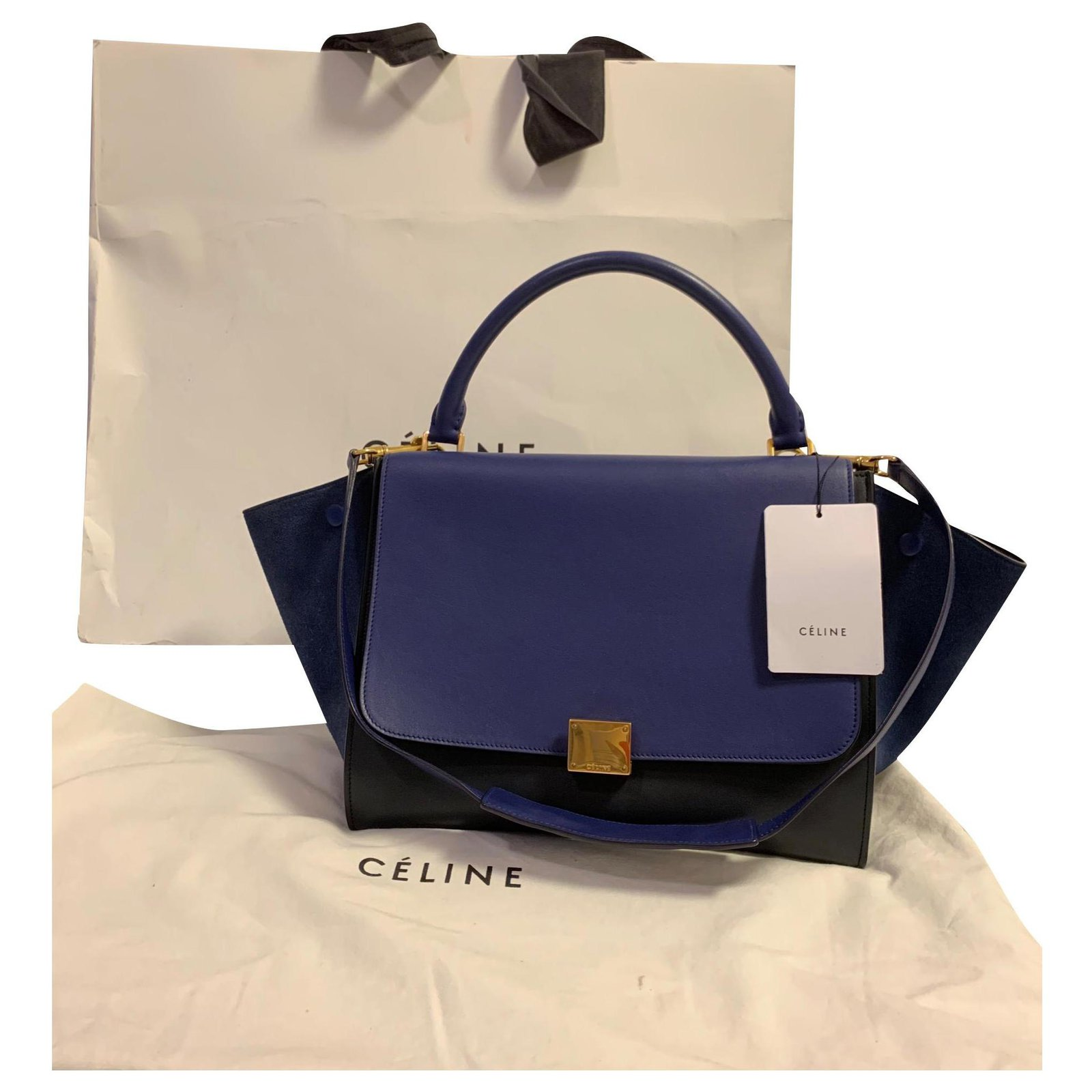 Céline Handbags Leather Dark
