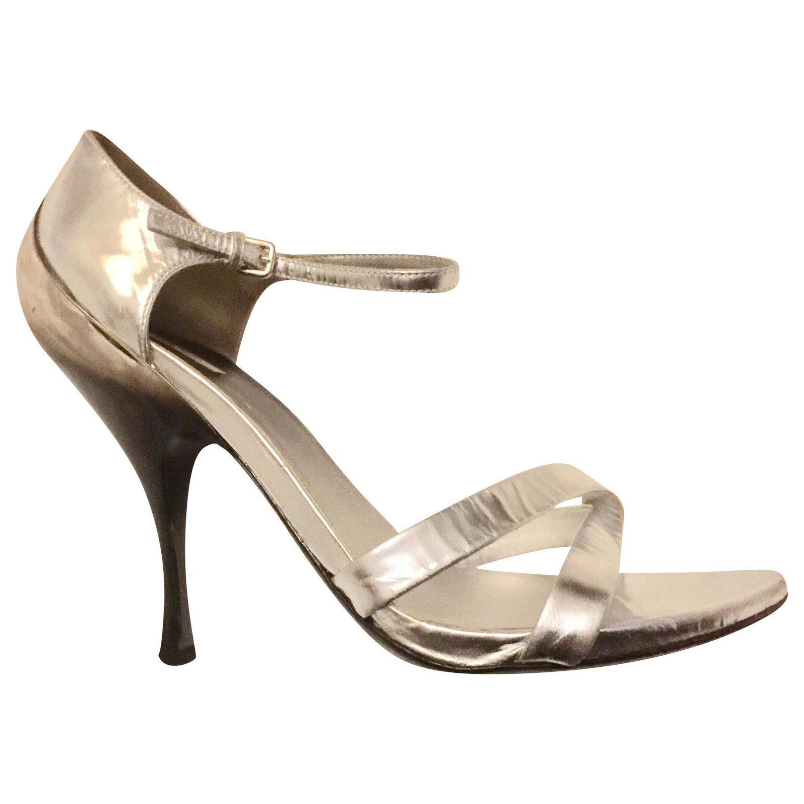 Miu Miu Silver evening sandals Sandals