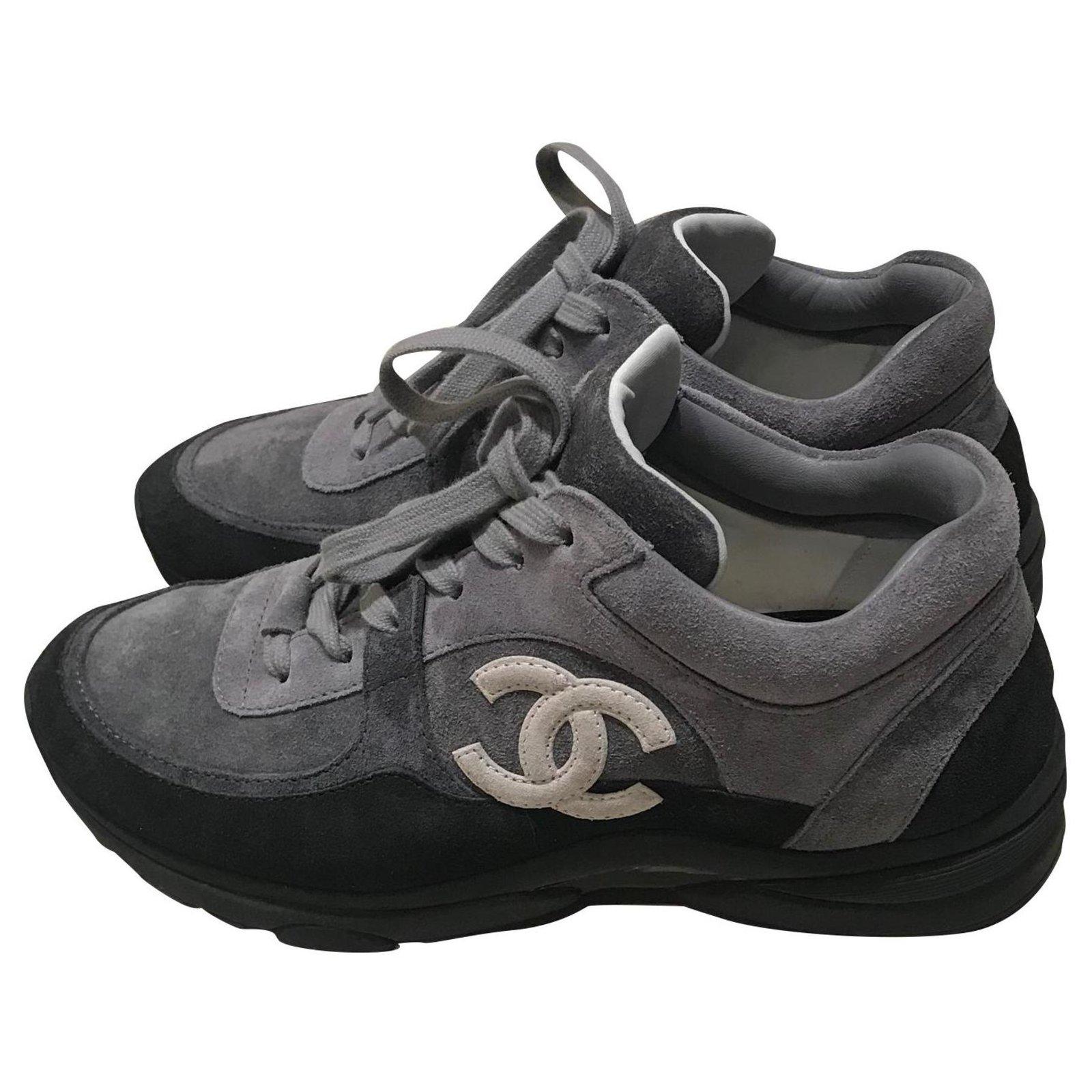 Chanel Sneakers Sneakers Suede Grey ref