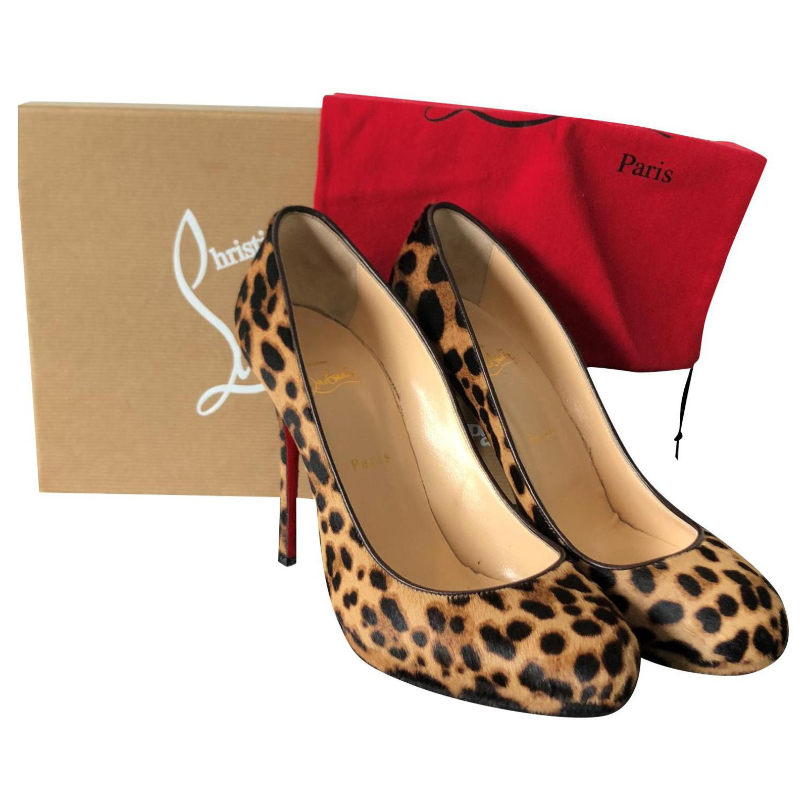 escarpin leopard louboutin