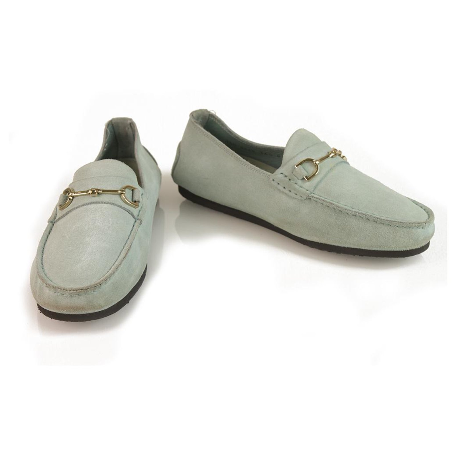 Gucci GUCCI Light blue suede leather