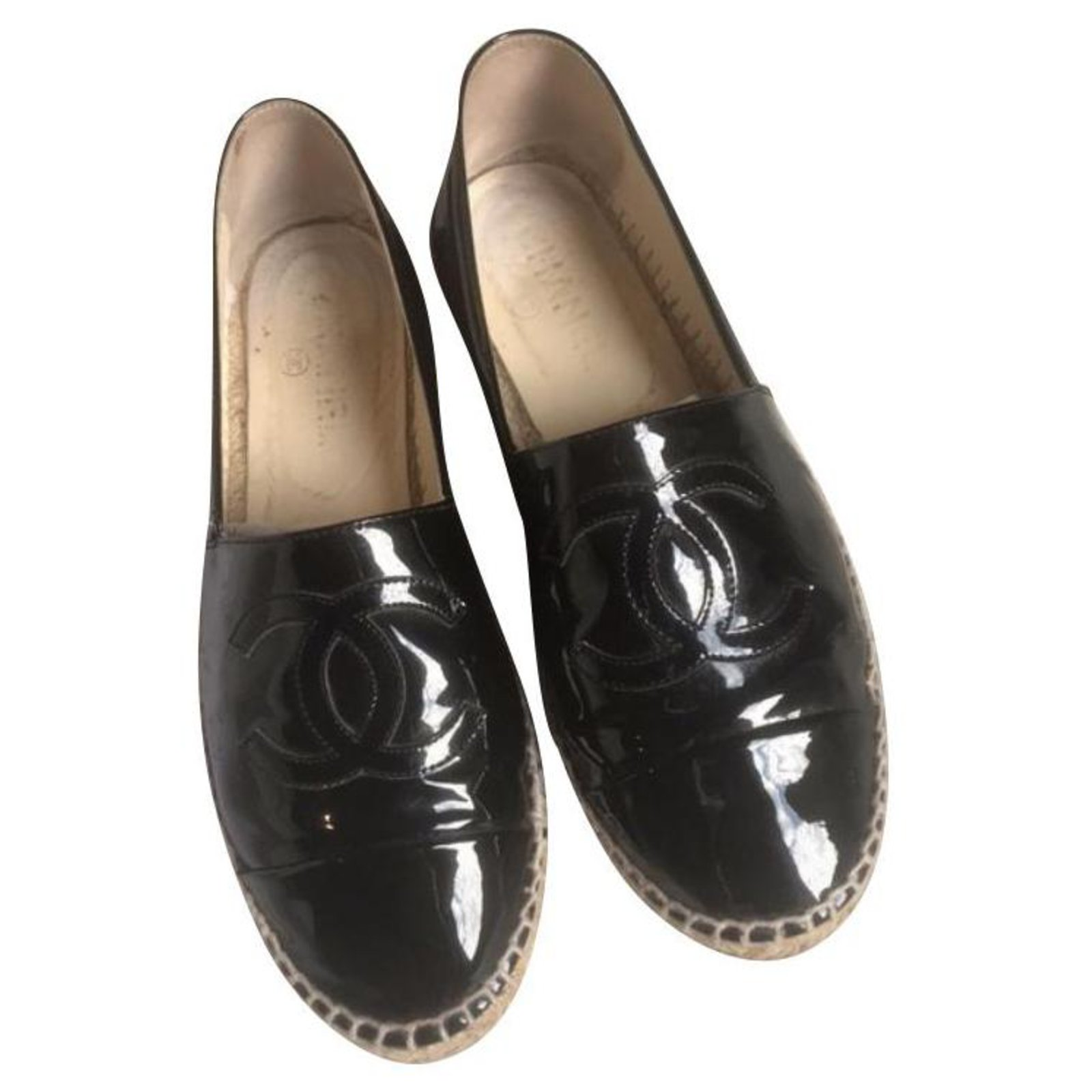 Chanel Espadrille Flats Patent leather
