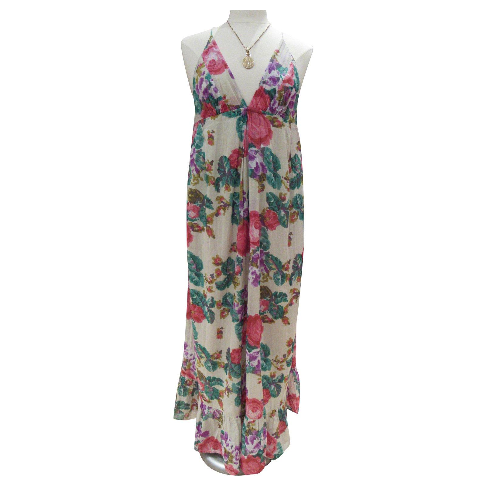 Robes Autre Marque Robe Longue D Ete Bleifrei Coton Multicolore Ref 206320 Joli Closet