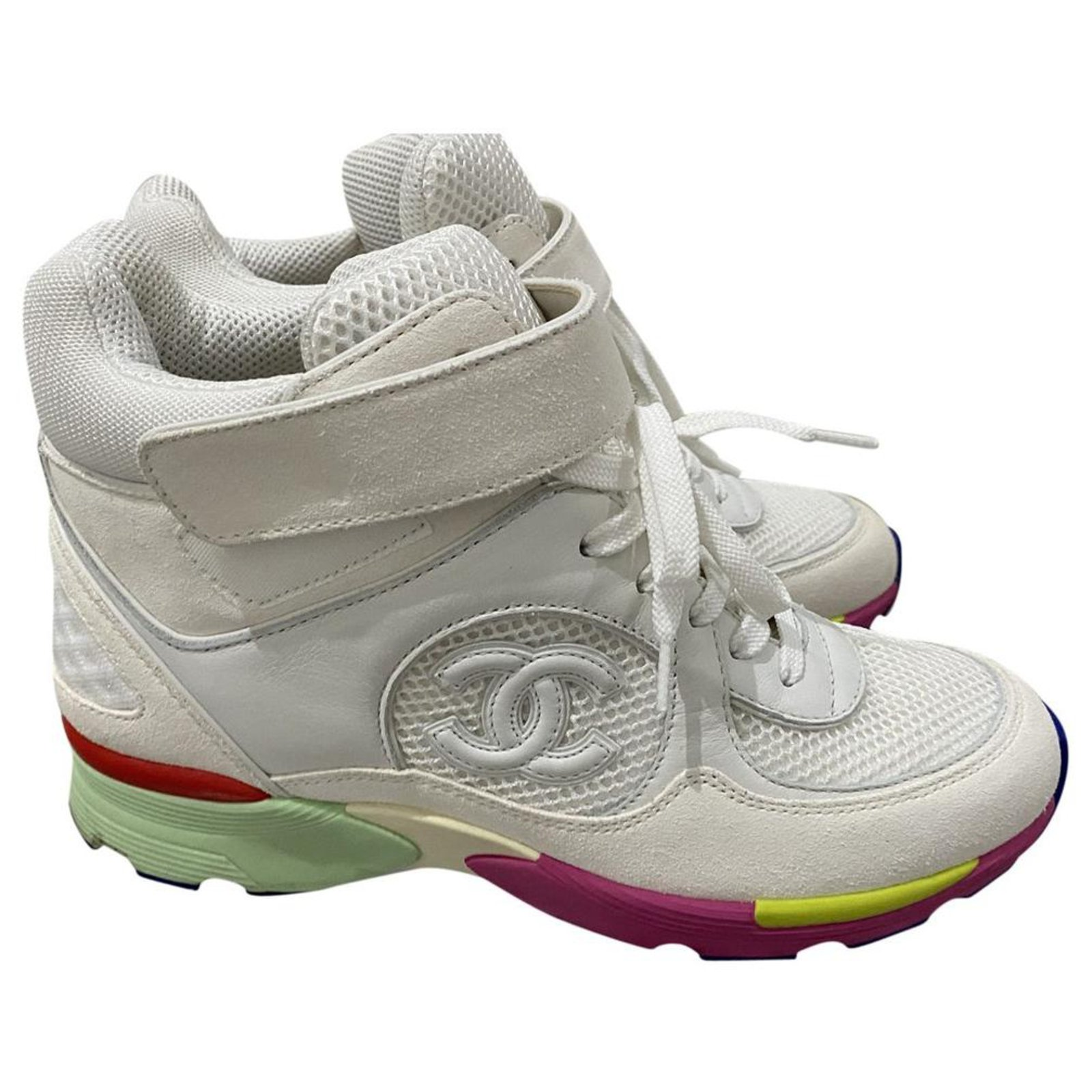 Chanel rainbow sole CC sneakers