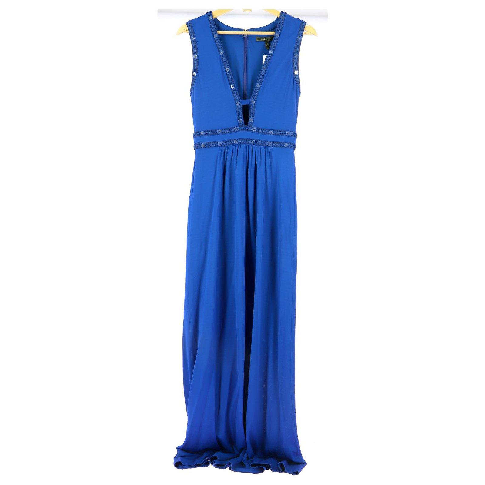 Bcbg Max Azria Robe Dresses Rayon Blue Ref 217998 Joli Closet