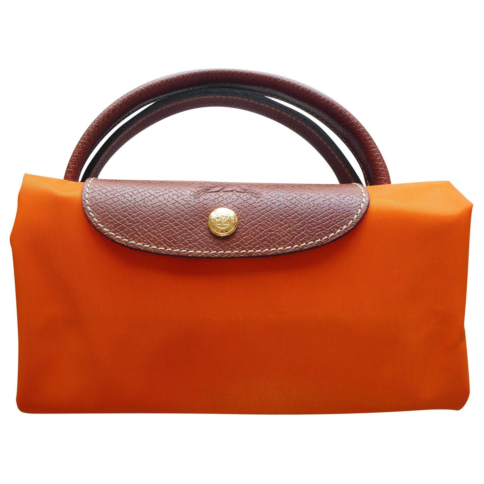 sac longchamp pliage taille L couleur orange