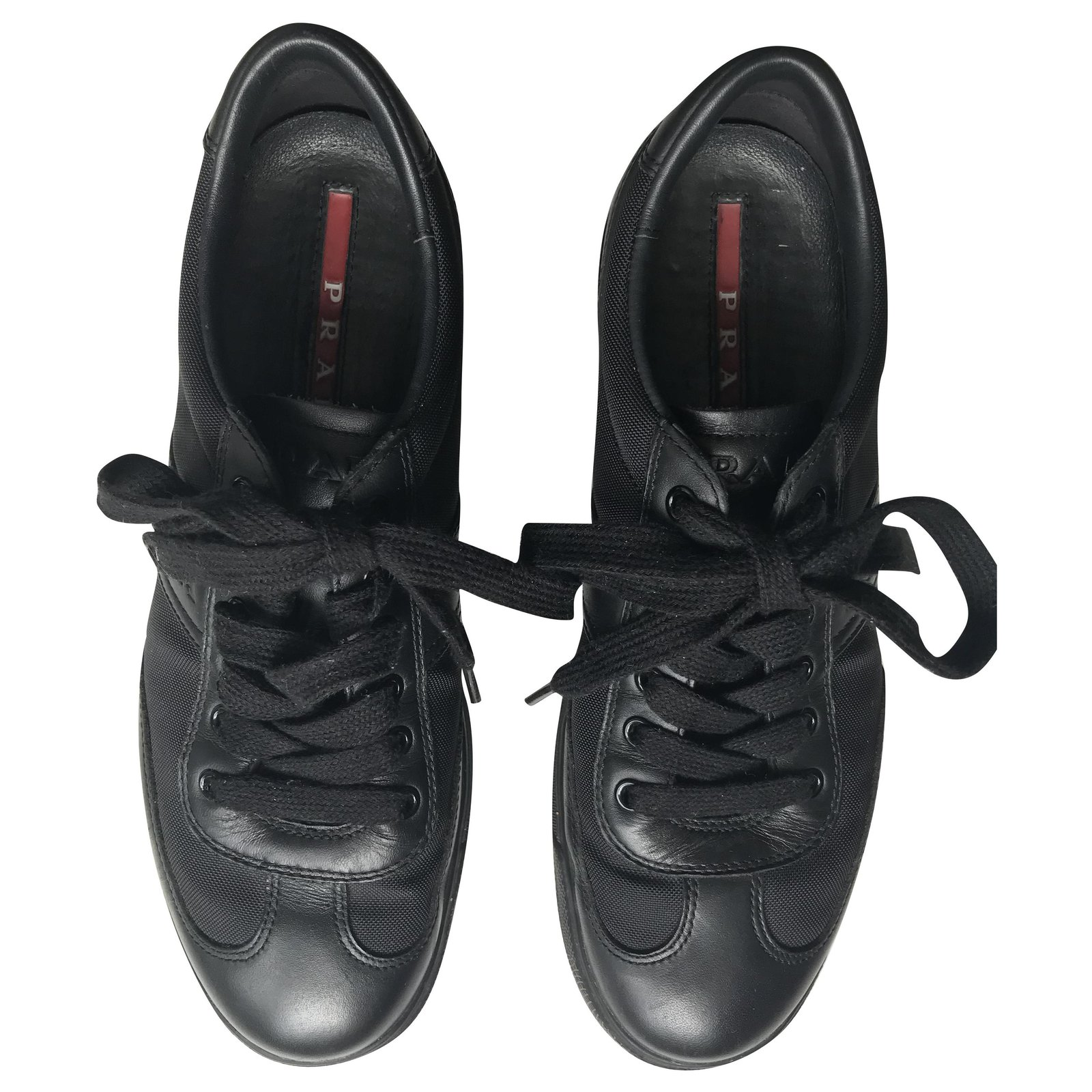 Prada Low Top Trainers Sneakers Leather