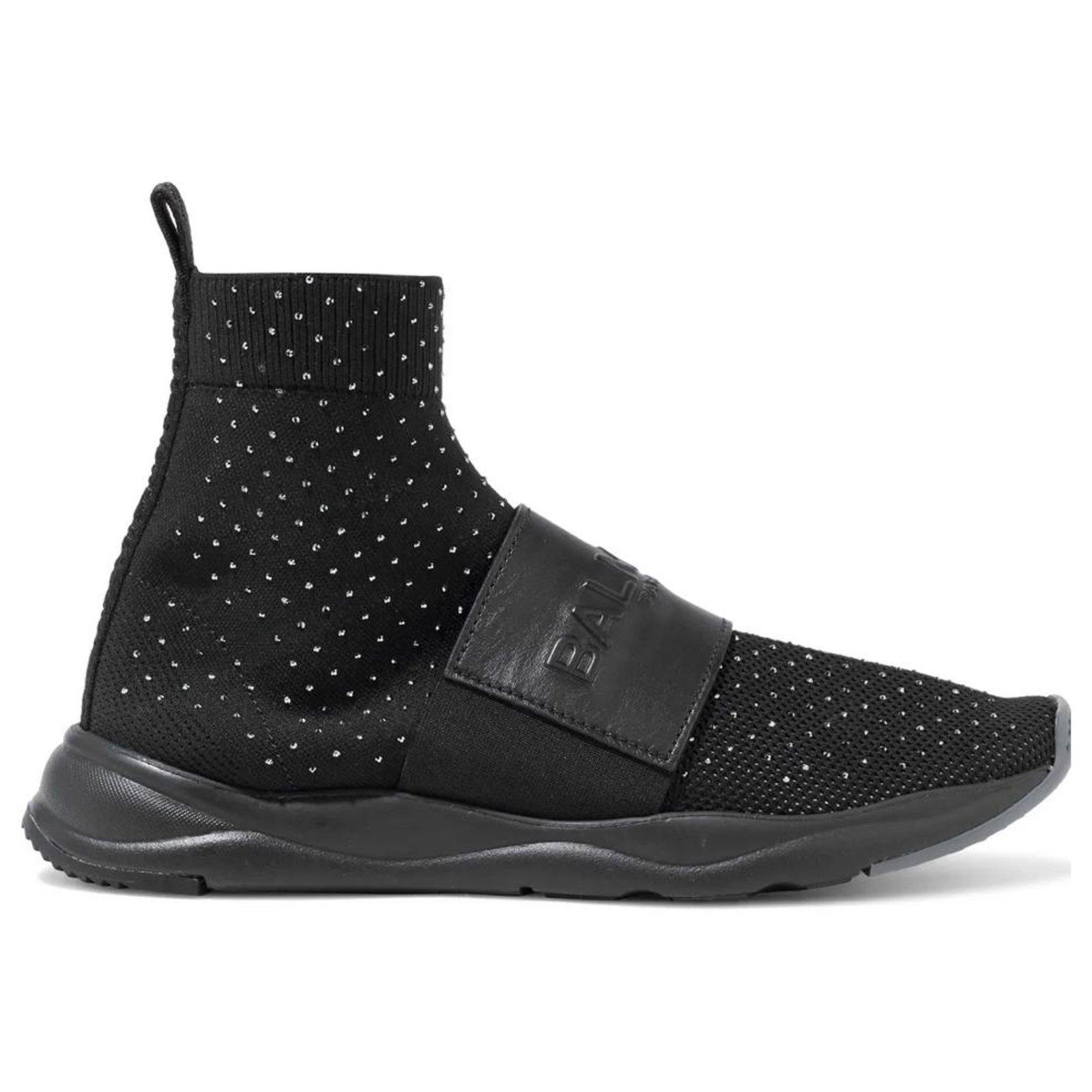 Balmain Cameron Sneakers Leather Black