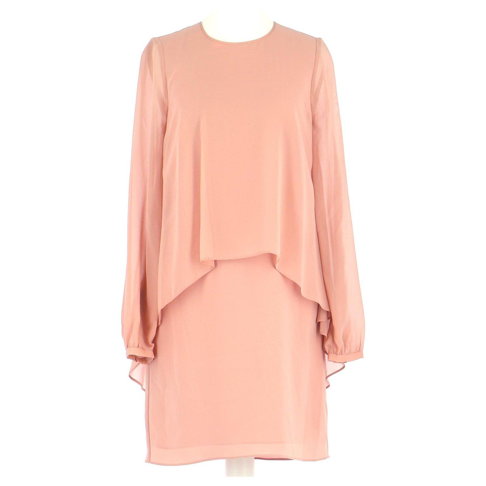 Bcbg Max Azria Robe Dresses Silk Pink Ref 230897 Joli Closet